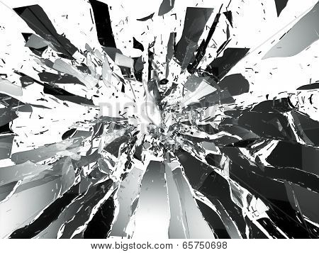 Shattered Glass: Sharp Pieces Isolated