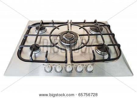 Modern Gas Kitchen Stove. Without Fire.
