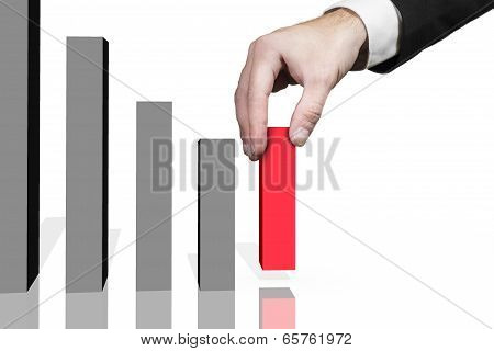 businessman domino row