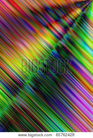 Intersecting under angle iridescent stripes
