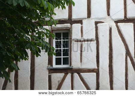 Half-timbered house in Chinon Vienne Valley France
