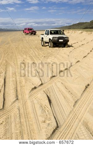 Four-wheel Driving On Fraser Island