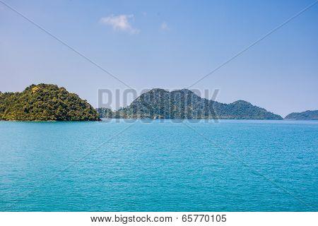 Blue Sea Koh Chang Island Beach At Trat ,thailand