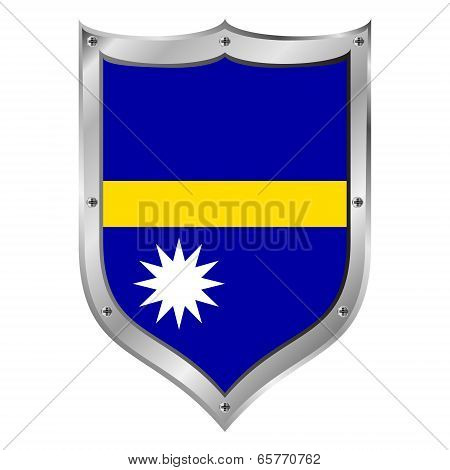 Nauru Flag Button.