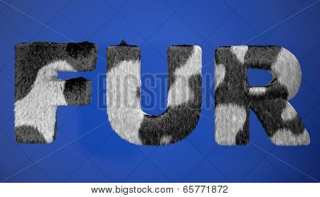 Black And Whine Fur Sign