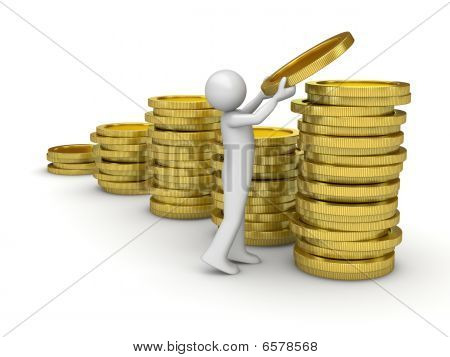 Man collecting money