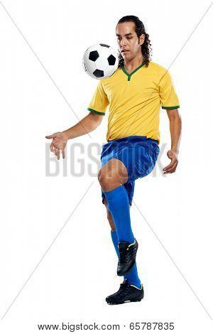 soccer skills football player in brasil kit for world cup brazil