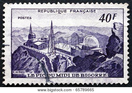 Postage Stamp France 1951 Observatory, Pic Du Midi