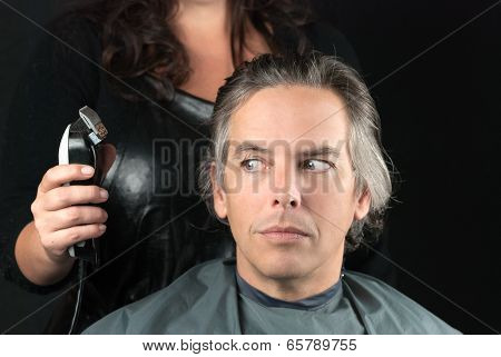 Bulk Length Removed, Stylist Uses Clipper