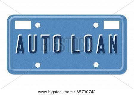 Auto Loan Vanity Plate