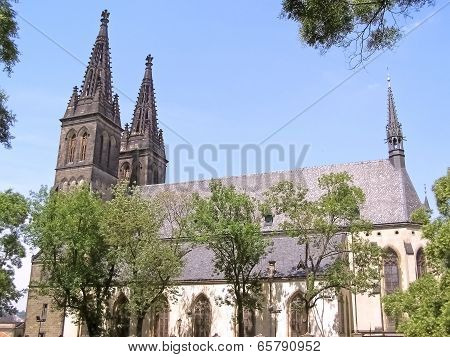 Temple St. Peter And Paul In Prague Vysehrad
