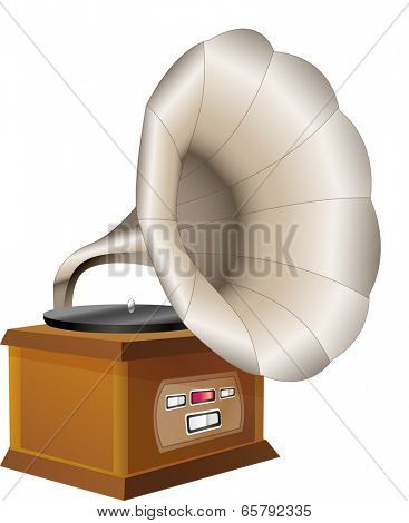 The view of gramophone