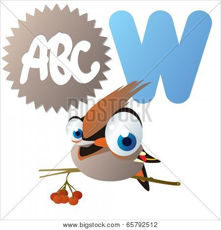 W is for Waxwing