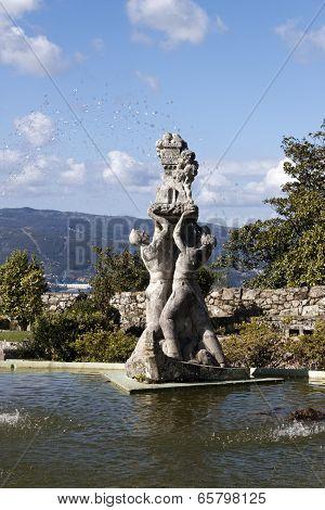 Sculpture In The Pool Of Castro Mount In Vigo