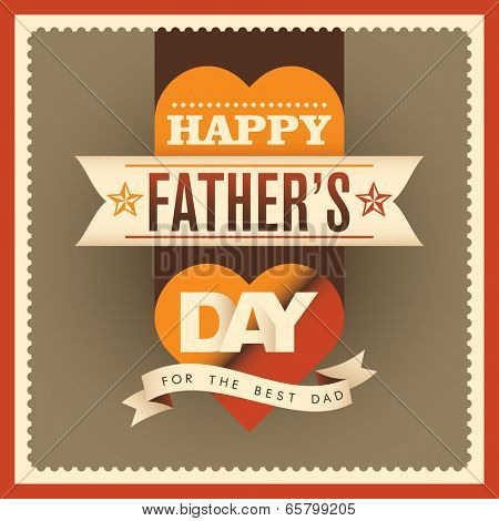 Modern father's day card design. Vector illustration.