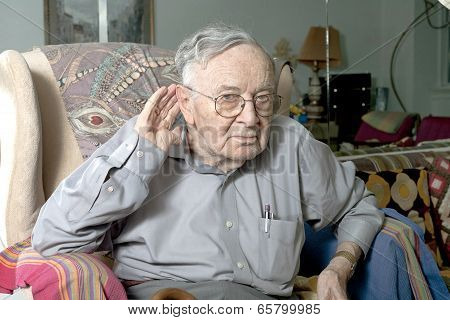 Senior Man Making Gesture