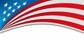stock photo of veterans  - USA banner background horizontal with space for copy - JPG