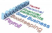 stock photo of statements  - Row of personal and small business accounting services - JPG
