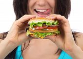 stock photo of burger  - Fast food concept - JPG