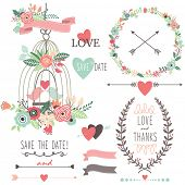 picture of single flower  - Wedding Vintage Flowers and Birdcage - JPG