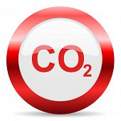stock photo of carbon-dioxide  - carbon dioxide glossy web icon - JPG