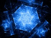 picture of graphene  - Blue hexagonal object - JPG