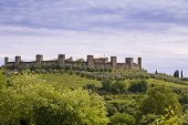 pic of alighieri  - Medieval town of Monteriggioni in Tuscany Italy - JPG