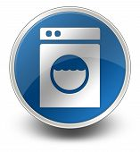 image of laundromat  - Icon Button Pictogram Image Illustration with Laundromat symbol - JPG