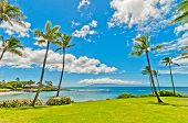 picture of pacific islands  - ocean view in West Maui - JPG