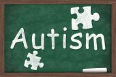 picture of autism  - Learning about Autism Autism written on a chalkboard with chalk - JPG