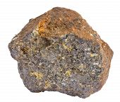 stock photo of ore lead  - Sample of galena ore also containing chalcopyrite and sphalerite - JPG