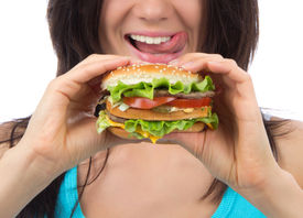 picture of burger  - Fast food concept - JPG