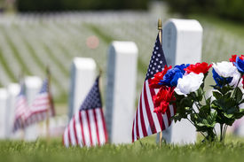 pic of corps  - veterans cemetery memorial celebration with American Flag - JPG