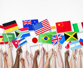 picture of jamaican flag  - People holding flags of their country - JPG