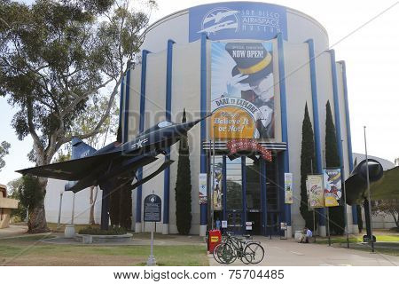 San Diego Air and  Space Museum located at the Ford Building at Balboa Park in San Diego