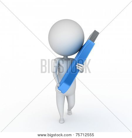 3d rendered illustration of a guy with usb flash