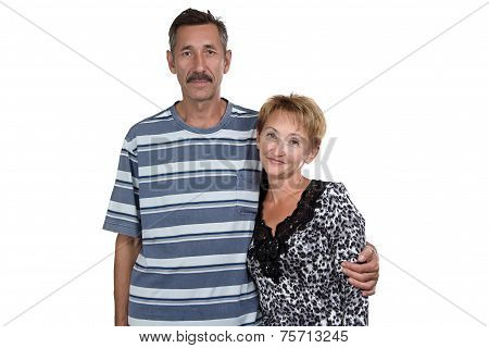 Photo of old woman and man