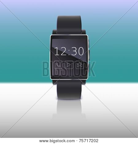 Electronic watch, computer interface.
