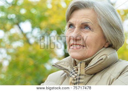 Senior woman walking