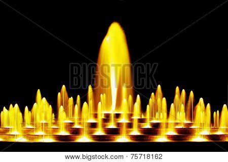 Yellow water fountain
