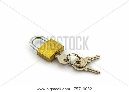 Close Up Key And Lock.