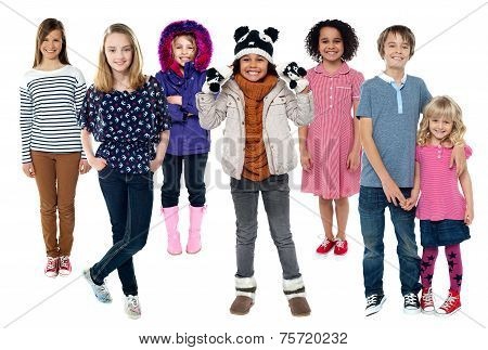 Group Of Children Standing Together