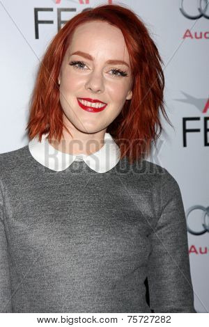 LOS ANGELES - NOV 7:  Jena Malone at the AFI FEST 2014 Young Hollywood Roundtable at the TCL Chinese 6 Theaters on November 7, 2014 in Los Angeles, CA