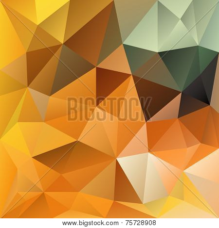Vector Polygonal Background Orange Autumn