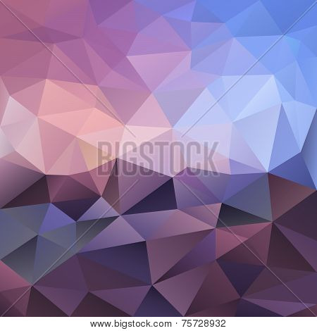 Vector Polygonal Background Violet Amethyst