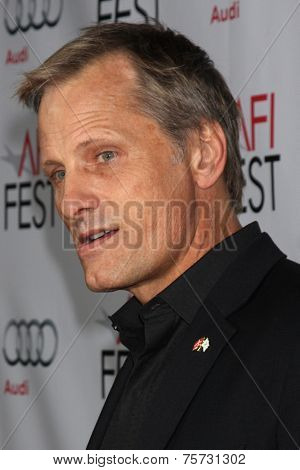 LOS ANGELES - NOV 8:  Viggo Mortensen at the AFI FEST 2014 Photocall at the TCL Chinese 6 Theaters on November 8, 2014 in Los Angeles, CA