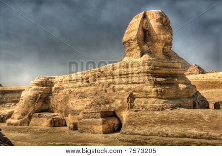 Hdr Image Of The Sphinx At Giza. Egypt.