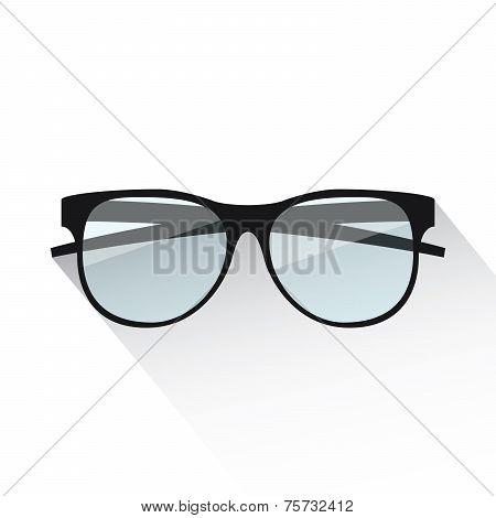Flat eyeglasses vector illustration isolated on white