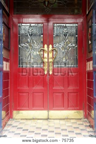 Red Double Doors