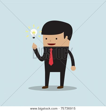 Businessman Get The Good Idea